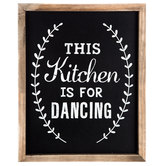 Kitchen Is For Dancing Wood Wall Decor